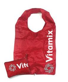 エコバッグ レッド バイタミックス オリジナル | Vitamix 折りたたみ 携帯 マチ付 赤 コンパクト おしゃれ 買い物 軽量 エコトート トートバッグ