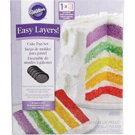 Wilton 6インチレイヤードラウンドパン 5PC   手作りお菓子 ケーキ 誕生日 ウィルトン Easy Layers 5-Piece Layer Cake Pan Set