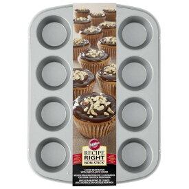 Wilton ウィルトン カバーマフィン型 12個セット | RR COVERED MUFFIN PAN カップケーキ マフィン デコレーション ケーキ型 型 誕生日 製菓 食品 製菓材料