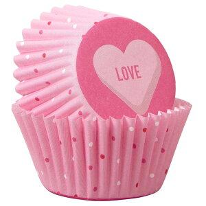 Wilton ラブミニマフィンカップ100CT | 手作りお菓子 料理 お弁当 バレンタイン ウィルトン LOVE MINI BAKING CUPS