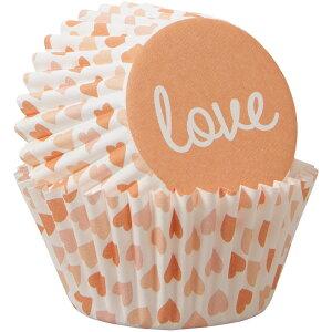 Wilton ラブオッターミニマフィンカップ100CT | 手作りお菓子 料理 お弁当 バレンタイン ウィルトン MINI BAKING CUPS Love 100Ct