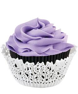 Wilton(ウィルトン)ブラックドイリーカップキット 48CT  CUP STD DOTS RD 75CT カップケーキ マフィン カップ ケーキデコレーション 誕生日 製菓 食品 製菓材料 プレゼント ギフト スタイリッシュ お