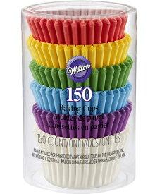 Wilton(ウィルトン)ミニカップチューブレインボー 150pcs | カップケーキ マフィン カップ ケーキデコレーション 誕生日 製菓 食品 製菓材料 MINI CUPS RAINBOW 150CT 製菓 プレゼント ギフト スタイリッシュ おしゃれ