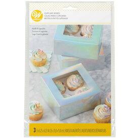 Wilton オーロラカップケーキボックス3CT | 手作りお菓子 ラッピング ギフト バレンタイン ウィルトン CUPCAKE BOX 4 CAVITY IRRIDESCENT 3 COUNT