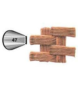 Wilton(ウィルトン) / バスケットチップ 口金#47 BASKET TIP #47 CRD 製菓 プレゼント ギフト スタイリッシュ おしゃれ