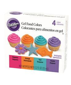 Wilton(ウィルトン)アイシングカラー ビビッド ジェル 4色 セット 食用色素 食品 フードカラー Neon Gel Icing Color Set 製菓 プレゼント ギフト スタイリッシュ おしゃれ