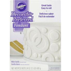 Wilton ウィルトン ロールフォンダン ホワイト24オンス Fondant ケーキ ケーキデコレーション 製菓材料 製菓 誕生日