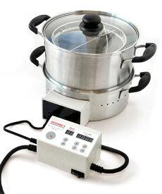 平山式 低温スチーム電気鍋 30cm 低温調理 低温蒸し 低温スチーミング 70℃蒸し 51℃洗い 蒸し器 低温スチーム ヘルシー 健康志向