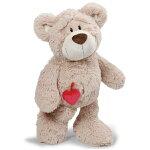 NICIニキラブベアクラシック120cm/BN|動物熊クマベアBareハートheartアニマルぬいぐるみキッズベビーギフト贈物手ざわりふわふわポポララ