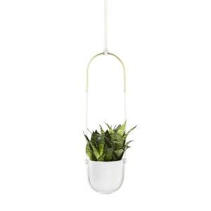 プランター ボロ ホワイト umbra アンブラ ガーデニング ハンキングプランター 吊るす 吊り下げ 吊下げ 掛ける 植木鉢 鉢 鉢植え