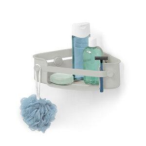 トレー 壁掛けトレー フック 吸盤 浴室 お風呂 洗面所 石鹸置き フレックス ジェルロック コーナービン グレー / umbra アンブラ