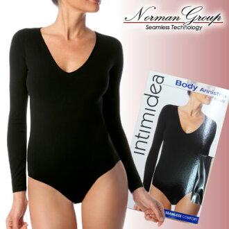 インティミディア /INTIMIDEA V collar long sleeve ボディブリファー [body shirt 10P18Oct13
