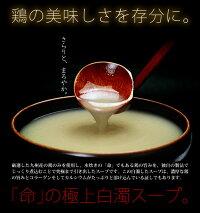 鶏の美味しさを存分に味わう命の極上白濁スープ