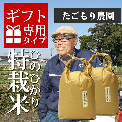 【ギフト対応可】29年産 福岡県産 たごもり農園の特別栽培米 ひのひかり 10kg(5kg×2) [k][*]【 ギフト 誕生日 内祝い】