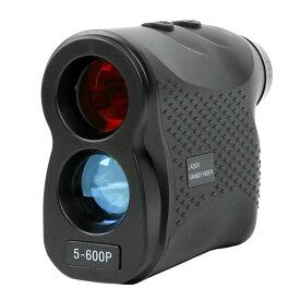 1000円OFF レーザー距離計送料無料 ゴルフ用 距離測定器 最大測定距離600m 光学6倍望遠 収納ケース付き 携帯に便利 5-600P