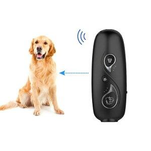 吠え無駄 防止 器具犬用 吠え防止装置 超音波 USB充電式 犬の訓練ツール2つ周波数モード 調整可 携帯便利 安全無害 夜泣き対策 近隣トラブル 睡眠妨害防止 猫じゃらし機能付き ブラック静か