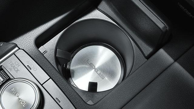 LEXUS レクサス純正LC500h LC500インテリアパーツアルミカップホルダープレートLEXUSロゴ入り 1個入りディーラーオプション品内装部品 ドリンクホルダーコースター