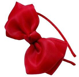 カチューシャ キッズ リボン コスプレ 衣装 仮装 グッズ プリンセス お姫様 小道具 アクセサリー(レッド)