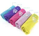 冷感スポーツタオル 軽量/速乾/吸水 水さえあれば簡単ひんやり アウトドア/スポーツ/水泳/ヨガ/登山/旅行 全5色