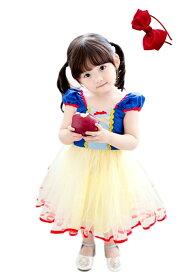 ハロウィン 衣装 子供 白雪姫 ワンピース こども 女の子 ドレス コスプレ 衣装 ミニドレス コスチューム 仮装 お姫様 なりきり TDL プレゼント ギフト イベント パーティー カチューシャ セット