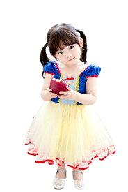ハロウィン 衣装 子供 白雪姫 ワンピース こども 女の子 ドレス コスプレ 衣装 ミニドレス コスチューム 仮装 お姫様 なりきり TDL プレゼント ギフト イベント パーティー