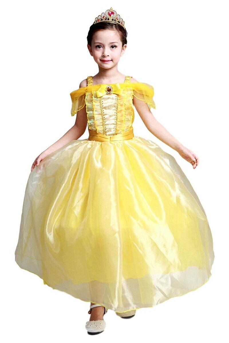 ベルドレス スカート3層構造 ふんわり 子供用 プリンセス ロングドレス ティアラ セット