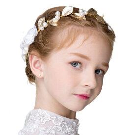 8b10ed1c946cb ヘアアクセサリー ヘッドドレス 子供 髪飾り 女の子 キッズ 花 ホワイト パール ティアラ カチューシャ ラインストーン
