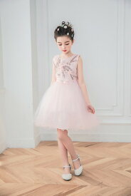 cda2fbb254c12 ドレス 女の子 フォーマルドレス 子供服 ミニドレス フラワーガール リングガール 上品 ミルキーカラー 花刺繍