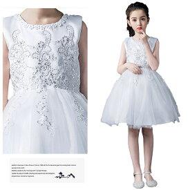 118f65ce30ef5 ドレス 女の子 子供 フォーマルドレス 純白 編み上げ レースアップ ミニドレス ノースリーブ 子供服 ワンピース ホワイト
