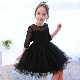 016770bc4461a 子供ドレス フォーマル 子供服 子どもドレス 女の子 ワンピース ミニドレス 110 120 130 140 ブラック