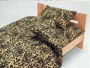 ピローケース(まくらカバー)ヒョウ茶 ヒョウ柄 レオパード柄 43x63cm アニマル柄シーツカバー 日本製 綿100%