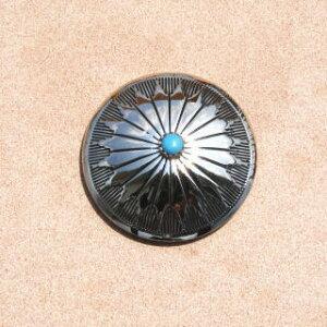 コンチョ 金属ボタン 1153 メタル スクリュータイプ ネジ式 32mm 厚み0.8ミリ(手芸 工芸 アクセサリー クラフト 手作り ハンドメイド 革製品 レザー 財布 ウォレットに取付 腕時計 カスタム
