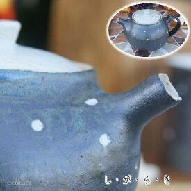 おしゃれ 急須 ティーポット 400cc「ドット黒」信楽焼(しがらきやき) スカーレット 陶器 焼物 丸十製陶 日本製 キッチン 小物 食器 古民家カフェ 茶器