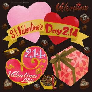 店舗看板シール ステッカー ラベル デコレーションシール アクリル絵の具 バレンタイン1 6362 低粘着 かわいい おしゃれ デカール( POP レストラン パブ カフェ バー bar オフィス ショップ