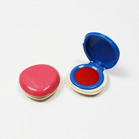 朱肉 インク プチ シャチハタ しゅにく 印鑑 はんこ 捺印 押印 紙 20号 23mm 円形 ピンク ブルー 蓋付き ケース