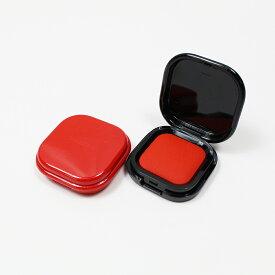 朱肉 インク 速乾 コンパクト シャチハタ しゅにく 印鑑 はんこ 捺印 押印 紙 30号 30mm角 蓋付き ケース 黒 赤
