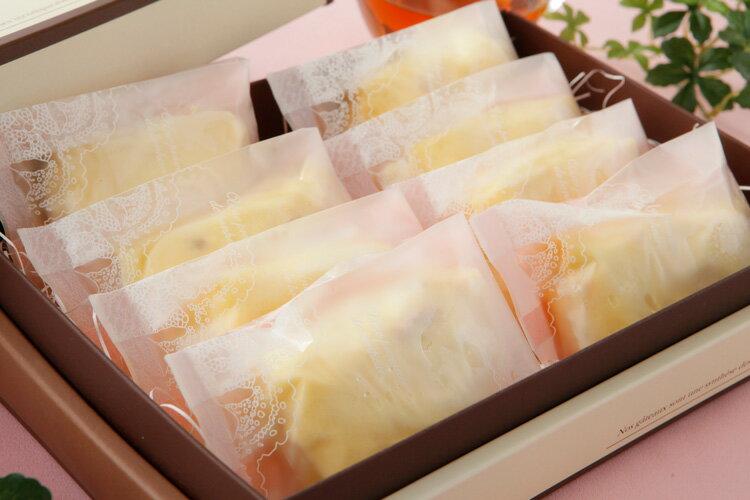 送料無料  チーズケーキ レアチーズケーキのクレープ包み(8個入)父の日2018 父の日ギフト