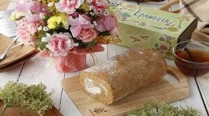 送料無料!!砂糖不使用!お花のアレンジとロールケーキセット  バースデーギフト スイーツギフト 父の日2020 母の日遅れてごめんね