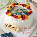 写真ケーキ 送料無料 4号サイズ 12cm(2〜4人分)メッセージ付 生クリームか生チョコより選択可 フルーツたっぷり生…