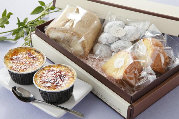 送料無料 湯布院牛乳使用 とろ〜りプリン と ロールケーキ 焼き菓子 の 詰合せ-ダリア