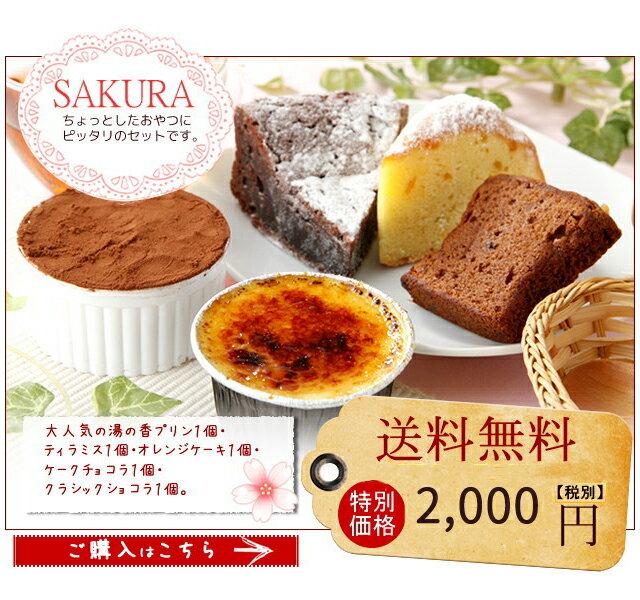 とろ〜りプリン と 焼き菓子 詰合せ-SAKURA お中元ギフト