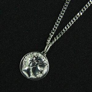 MEN'Sエポラージュ®磁気ネックレス チェーンタイプ コイン 男性用 シルバー epm-001