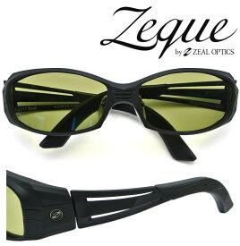 Zeque by ZEAL OPTICS ゼクー バイ ジールオプティクス サングラス VERO 2nd (ジール ヴェロ セカンド) F-1307 オールマットブラック 偏光レンズ TALEX (タレックス) イーズグリーン 【送料無料】