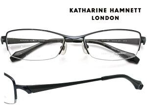 KATHARINE HAMNETT LONDON (キャサリンハムネットロンドン) メガネフレーム 54サイズ KH-9113 4 シャーリングネイビー/ブラックマット 【送料無料】