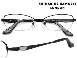 KATHARINE HAMNETT LONDON (キャサリンハムネットロンドン) メガネフレーム 52サイズ KH-9100 4 ブラック/ブラック(シルバーポイント) 【送料無料】