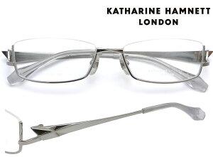 KATHARINE HAMNETT LONDON (キャサリンハムネットロンドン) メガネフレーム 54サイズ KH-9175 1 シルバー/シャーリングシルバー アンダーリム・逆ナイロール・逆リム 【送料無料】