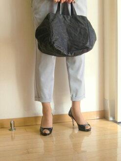 les basiques レバジック Box type leather handbag Black Lady's