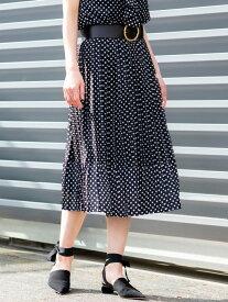 [Rakuten Fashion]【SALE/30%OFF】ポルカドットプリーツスカート EPOCA エポカ ザ ショップ スカート ロングスカート ブラック【RBA_E】【送料無料】