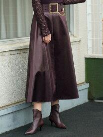 【SALE/51%OFF】グロッシーチンツスカート EPOCA エポカ ザ ショップ スカート ロングスカート レッド ブラック【RBA_E】【送料無料】[Rakuten Fashion]
