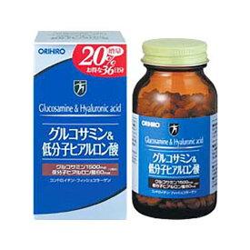 12粒中にグルコサミン1500mg、ヒアルロン酸60mg配合のサプリメントオリヒロ グルコサミン&低分子ヒアルロン酸 432粒入